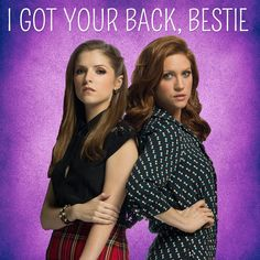 Beca and Chloe Pitch Perfect Quotes, Pitch Perfect Movie, Best Friend Soul Mate, Best Friend Goals, Pitch Pefect, Actors Funny, Chloe, Movie Showtimes, Brittany Snow