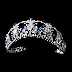 Fabulous Turquoise Blue Crystal Quinceanera Tiara! Visit http://www.specialoccasionsforless.com for fabulous quinceanera accessories!