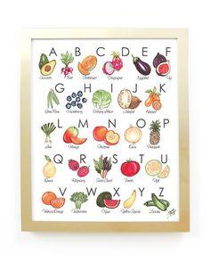 Fruit & Veggie Alphabet Art Print – Joanna Baker