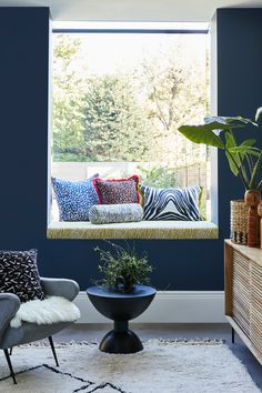 If you have the space beneath a window , why not create a stylish window seat finished with vibrant cushion covers from our Livingetc collection. Add a pop of colour to a place were you can take 5 minutes to sit with a cuppa and read a magazine. View our Livingetc Collection. Made To Measure Blinds, Blue Interiors, Color Pop, Colour, Outdoor Furniture Sets, Outdoor Decor, Cushion Covers, Shutters, Interior Inspiration