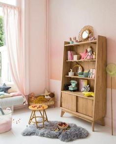 The cutest pink room for a girl with vintage midcentury details