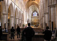 The nave of Southwark Cathedral (St. Saviour's in Ophelia's Muse).