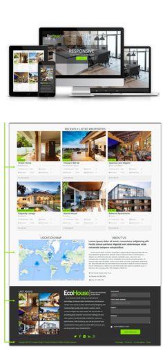 Eco House - Real Estate Drupal Theme. Drupal Themes. $59.00