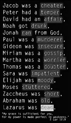 SO you still think God can't use you?