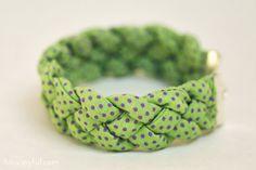 Joyful braided bracelet tutorial