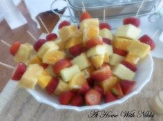 Summer Entertaining Tips At Home With Nikki, Easy Holiday Desserts, Food Tasting, Party Entertainment, Glass Collection, Fruit Salad, Tablescapes, Appetizers, Entertaining