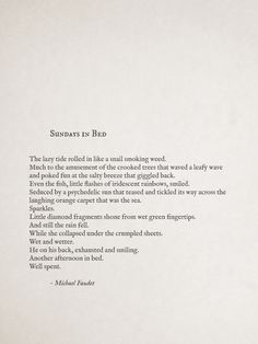Sundays In Bed by Michael Faudet  Follow him michaelfaudet.tumblr.com