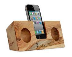 Ambrosia Maple Original - Eco friendly wood iPhone speaker by Koostik
