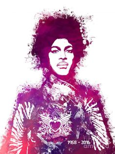 Prince Poster featuring the painting Prince Art by Justyna JBJart
