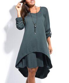 Loving this Anthracite Hi-Low Dress on #zulily! #zulilyfinds