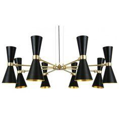 lámpara suspensión Cairo Led Negra   Tiendas On