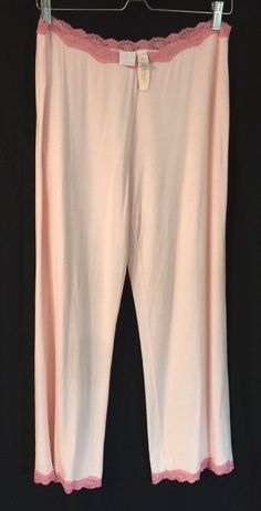 Victoria's Secret SZ L Womens Sleep Pants Pink Pajama Lounge Modal Lace PJ NWT  | eBay
