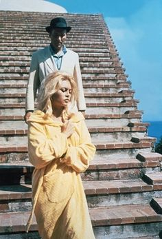 """Le Mépris"" by Jean Luc Godard. Capri, Italy. Villa Malaparte, Piccoli & Bardot"