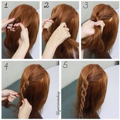 The step by step instruction :-  Twist / Rope braid 1. Separate hair into 2 equal sections 2. Twist each section of hair into same direction 3. Cross the left section over the right section 4. Keep braiding until you reach the desired length 5. Finished