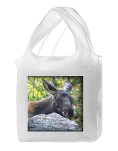 Reusable polyester shopping bag with moose calf photo. $12. This item is only available for visitors on the 2016 Gilpin Studio Arts Tour - Saturday  Sept 17th and Sunday Sept 18th 11:00 am - 5:00 pm.