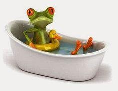froggie bath.