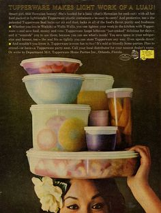 Vintage Tupperware Container Advertisement.