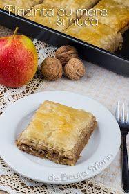 Din bucătăria mea: Placinta cu mere si nuca Mac, Cornbread, Muffin, Thanksgiving, Cooking Recipes, Sweets, Breakfast, Ethnic Recipes, Desserts