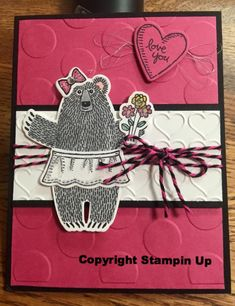 Stampin Up Bear Hugs stamp set, Occasions Catalog. Shared by demonstrator friends. Kim Williams, www.stampinwithkjoyink.typepad.com