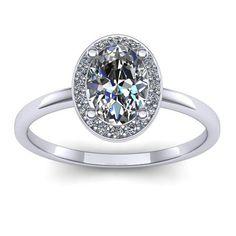Inel logodna L54ASA cu safir alb si diamante