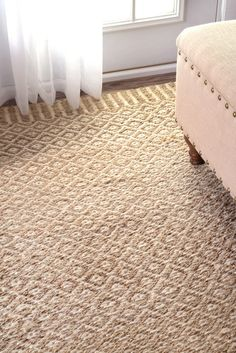 MauiNT25 Jute Bird's Eye Rippled Edge Rug
