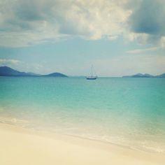 beautiful white sand beaches Whitsunday Islands, Australia