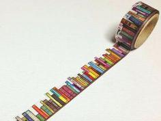 Book Shelf - Round Top Yano Design, Debut Series Natural - Japanese Die Cut Washi Paper Masking Tape - Kawaii Collage, Gift Wrapping - JapanLovelyCrafts
