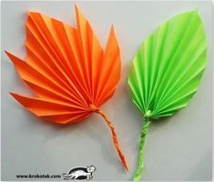 alternative for fall leaf projects Kids Crafts, Leaf Crafts, Fall Crafts, Leaf Projects, Arts And Crafts Projects, Paper Leaves, Paper Flowers, Mushroom Crafts, Unicorn Ornaments
