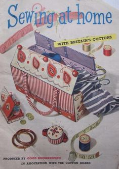 Sewing At Home - 1950's Make Do And Mend, How To Make, Good Housekeeping, Sewing, Cotton, Dressmaking, Couture, Sew, Stitching