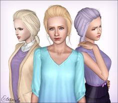 NewSea's Ramya hair - Retextured at Eternila`s Stuff - Sims 3 Finds