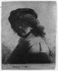 Rembrandt avec une écharpe autour du cou,1633    Rembrandt Harmensz van Rijn (1606-1669)