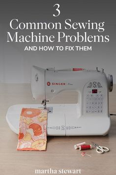 3 Common Sewing Machine Problems (and How to Fix Them) We consulted Becky Hanson of Singer Sewing Company to keep your sewing experience positively seamless. Sewing Hacks, Sewing Tutorials, Sewing Crafts, Sewing Tips, Serger Sewing, Sewing Ideas, Sewing Machine Repair, Sewing Machine Tension, Singer One