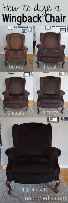 how to dye a wingback chair (naptimediy.com) #WingbackChair