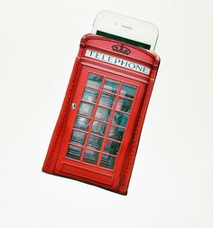 iPhone 4 Case British UK Phone Booth Case Fits iPhone 3/3GS/4/4S or customize to fit iPod