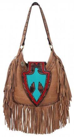 Camel Pull-Up Arrowhead Hobo Bag - HB28 <3