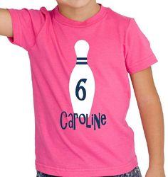 bowling party shirt