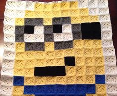 Despicable me Minion crochet blanket Boy or by MarchAlongCrafts