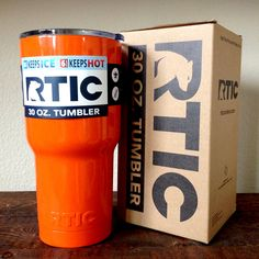 30 oz. RTIC Tumbler Custom Powder Coated Orange * Unique yet creative. Make sure to stand out of the crowd with our professionally powder coated tumbler.  Brand NEW!!! Official product of RTIC Coolers. Made in TEXAS.
