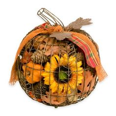 Harvest Wire Pumpkin Potpourri - BedBathandBeyond.com