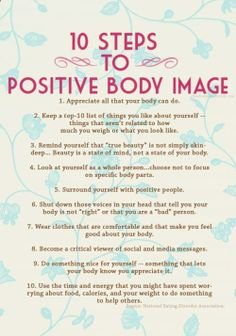steps to a healthy body image
