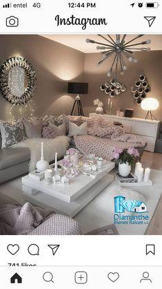 Cozy Living Room by Decor, Apartment Decor, Living Room Decor Apartment, Apartment Living Room, Pinterest Living Room, Elegant Living Room, Living Room Grey, Inspire Me Home Decor, Living Room Designs