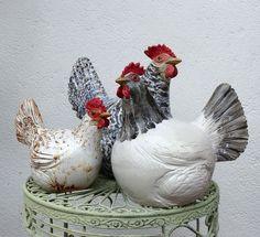 Ceramic Rooster, Ceramic Birds, Ceramic Animals, Clay Animals, Ceramic Clay, Ceramic Chicken, Chicken Bird, Paper Mache Sculpture, Pottery Sculpture