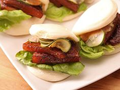 Steamed buns stuffed with pork belly cooked sous-vide in a Japanese-style marinade.