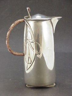 Tudric hot water jug by Archibald Knox Archibald Knox, Jugendstil Design, Art Nouveau Furniture, Aesthetic Movement, Manx, Vintage Room, Victorian Art, Arts And Crafts Movement, Art Deco Design