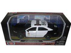 Pre-Built Model Ground Vehicles - 2013 Ford Police Interceptor LAPD Los Angeles Police Department Car 124 by Motormax 76948 *** Details can be found by clicking on the image.
