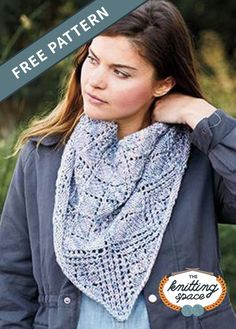 Add style and warmth to your daily fall outfits by making this easy lace knitted cowl and shawlette pattern. This is a great knitting project if you are looking to knit using worsted yarn and circular knitting needles. This easy knitting pattern is fully charted. | Discover over 4,500 free knitting patterns at theknittingspace.com #knitpatternsfree #springknits #springknittingprojects #fallknits #fallknittingpatterns #dailyaccessory #giftideas #DIY Fall Knitting Patterns, Knitting Projects, Circular Knitting Needles, Easy Knitting, Knit Cowl, Shawl, Couture Facile, Scarfs, Veils