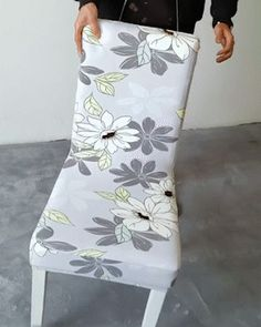 Director Chair Makeover - Reupholster Chair White - How To Make Chair Covers - Stretch Chair Covers, Spandex Chair Covers, Dining Room Chair Covers, Dining Room Chairs, Seat Covers For Chairs, Sofa Covers, Old Chairs, Slipcovers For Chairs, Black Chairs