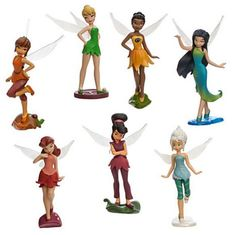 Disney Store Tinkerbell Fairies Periwinkle Silvermist Fawn  Cake Toppers NIB #DisenyStore