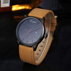 Cheap reloj fashion, Buy Quality reloj reloj directly from China reloj casual Suppliers: Fashion Design Luxury Women Men's Watches Analog Quartz Leather Sport Wrist Dress Date Watch Casual masculino relojes Wholesale Mens Sport Watches, Mens Watches Leather, Luxury Watches For Men, Leather Men, Leather Case, Brown Leather, Casual Watches, Stylish Watches, Rolex Datejust