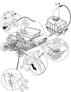 Click on image to download 1998-1999 Club Car Carryall I II VI Plus Gasoline & Electric Vehicle Repair Manual Download PDF